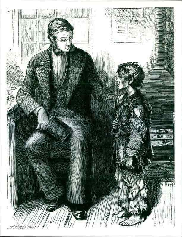 Dr Barnardo with Jim Jarvis, from the cover of the magazine The Children's Treasury (1870), which Barnardo edited