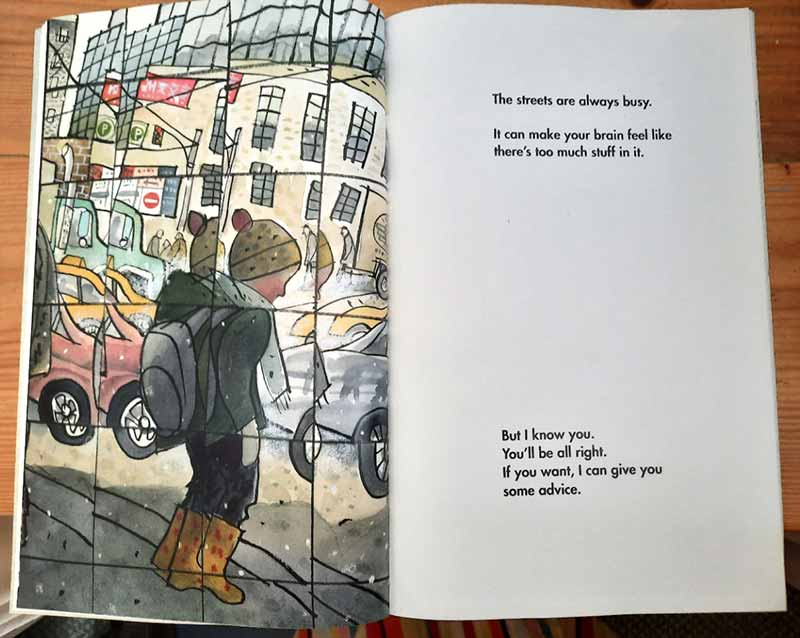 Inner spread from Small in the City by Sydney Smith