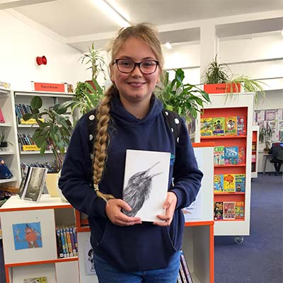 Emily from Hope Valley College, one of my young reviewers of 'The Song That Sings Us'