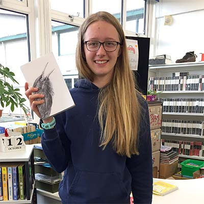 Maia from Hope Valley College, one of my young reviewers of 'The Song That Sings Us'