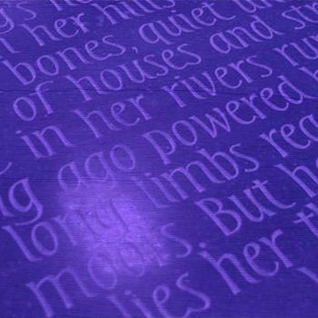 Berlie Doherty's poem carved onto a bench on The Moor, Sheffield